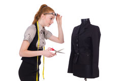 Female tailor Stock Photos