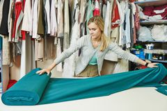 Female tailor at work Stock Photography