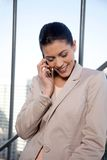 Female Talking On Cell Phone Royalty Free Stock Photo