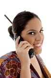 Female talking on mobile Royalty Free Stock Photo