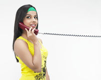 Female talking on the phone Stock Image