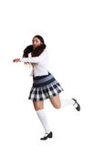 Female tap dancer Royalty Free Stock Photography
