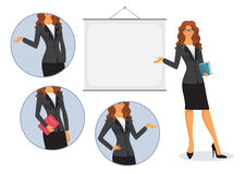 Female teacher with board Stock Photos