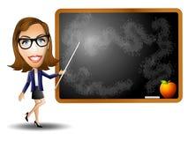 Female Teacher Chalkboard Stock Photo