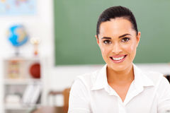Female teacher classroom Royalty Free Stock Photo