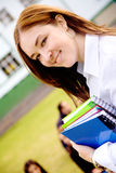 Female teacher at university Royalty Free Stock Image