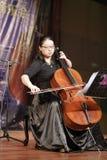 female teacher wangmiao play cello Stock Photography