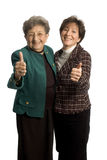 Female team. Female executive team corporate daughter mother with thumbs up royalty free stock image