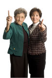 Female team. Female executive team corporate daughter mother with thumbs up royalty free stock photos