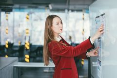 Female team leader marketing analysis business stock photography
