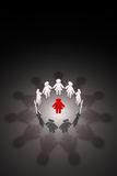 Female team. Strong leader (symbolic figures of people). 3D illu Royalty Free Stock Photo