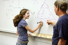 Female Technical Student Royalty Free Stock Photography