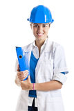 Female technician Stock Photo