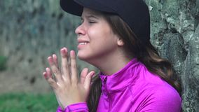 Female Teen Crying With Hurt Feelings stock footage