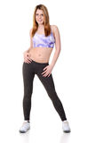 Female teen doing dance workout Stock Photo