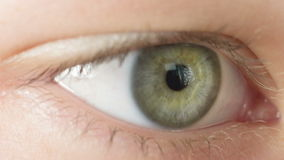 Female teen eye close up, reading Royalty Free Stock Photo