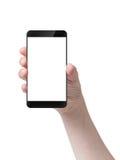 Female teen hand holding generic smartphone Stock Image