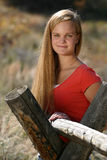 Female Teen Rural Royalty Free Stock Photography