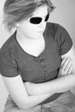 Female teen with sunglasses Stock Images