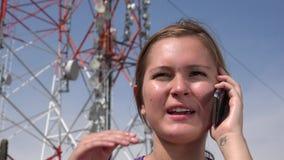Female Teen Using Cell stock video