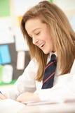 Female Teenage Student Studying Stock Photo