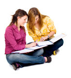 Female teenage students Stock Images
