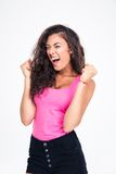 Female teenager celebrating her success Royalty Free Stock Photography