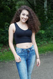 Female teenager from spain Royalty Free Stock Photo