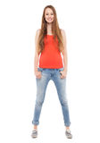 Female teenager standing Stock Image