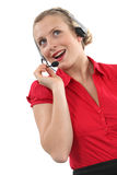 Female telemarketer Royalty Free Stock Photography