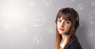 Female telemarketer Stock Photography