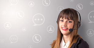 Female telemarketer Royalty Free Stock Images