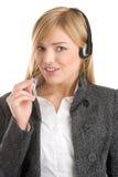 Female telephone operator Royalty Free Stock Photography
