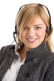 Female telephone operator Royalty Free Stock Images