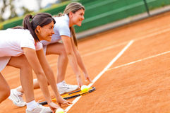 Female tennis competition Stock Photos
