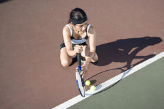 Female Tennis Player Royalty Free Stock Image