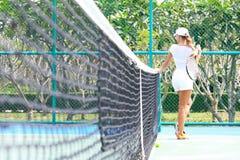 Female tennis player Stock Photo