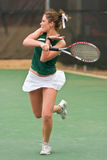 Female Tennis Player Follows Through On Forehand Royalty Free Stock Photo