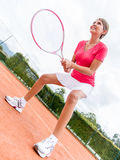 Female tennis player Stock Photography