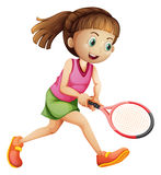 A female tennis player Stock Images