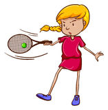 A female tennis player Stock Photography