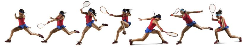 Female Tennis Player Isolated Stock Photography