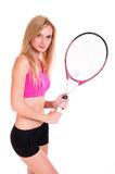 Female Tennis Player Portrait Royalty Free Stock Photos