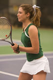 Female Tennis Player In Ready Position Royalty Free Stock Photo