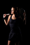 Female tennis player Stock Images