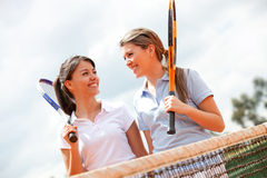 Female tennis players Royalty Free Stock Images