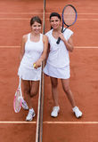 Female tennis players Stock Image