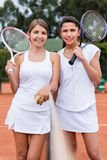 Female tennis players Stock Images