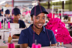 Female textile worker Royalty Free Stock Photos
