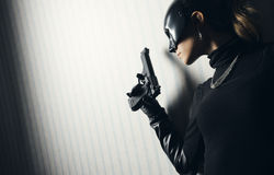 Female thief royalty free stock photography